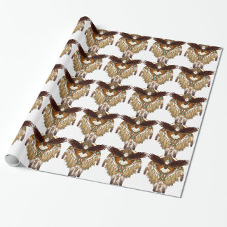 Bald Eagle Mandala - revised Wrapping Paper