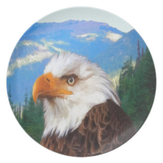 Bald Eagle Melamine Plate