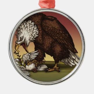 Bald eagle metal ornament
