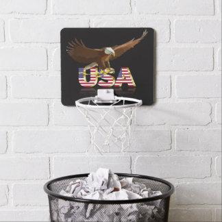 Bald eagle mini basketball hoop