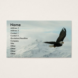 Bald eagle & mountains business card