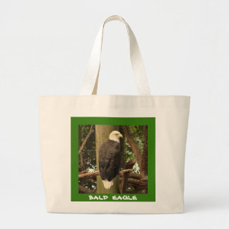 Bald Eagle (National Bird) Large Tote Bag