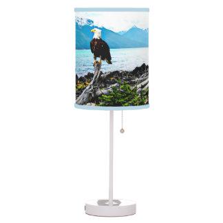 Bald Eagle On Alaska Coast Table Lamp