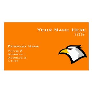 Bald Eagle on Orange Business Cards