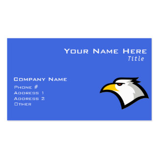 Bald Eagle on Royal Blue Business Card Templates