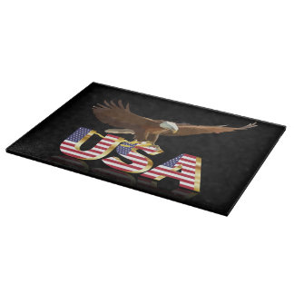 Bald eagle on the flag boards