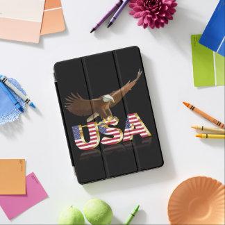 Bald eagle on the flag iPad air cover