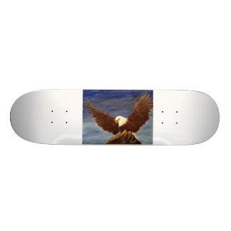 Bald Eagle Painting Skateboard