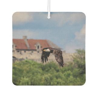 Bald Eagle passing Fort Ticonderoga Car Air Freshener
