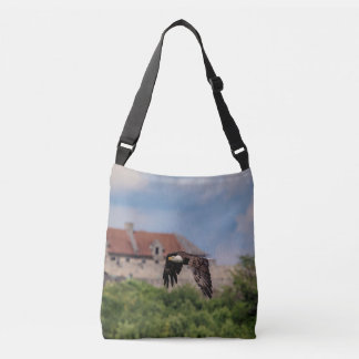 Bald Eagle passing Fort Ticonderoga Crossbody Bag