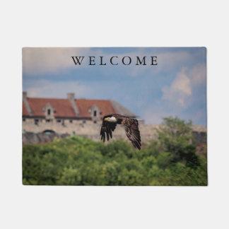 Bald Eagle passing Fort Ticonderoga Doormat