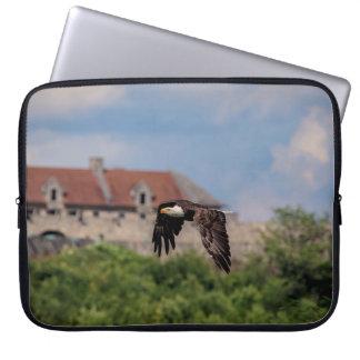 Bald Eagle passing Fort Ticonderoga Laptop Sleeve