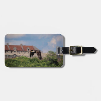 Bald Eagle passing Fort Ticonderoga Luggage Tag