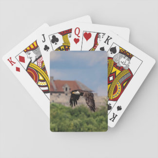 Bald Eagle passing Fort Ticonderoga Playing Cards