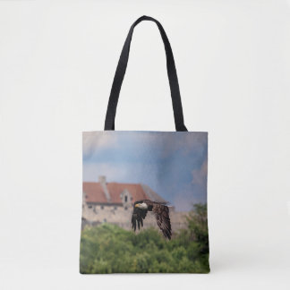 Bald Eagle passing Fort Ticonderoga Tote Bag