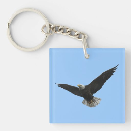 Bald Eagle Patriotic Acrylic Keychains