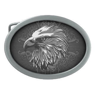 Bald Eagle Patriotic Oval Belt Buckle