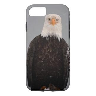 Bald Eagle Portrait in the Snow, Haliaeetus iPhone 7 Case
