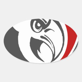Bald Eagle Pride Oval Sticker