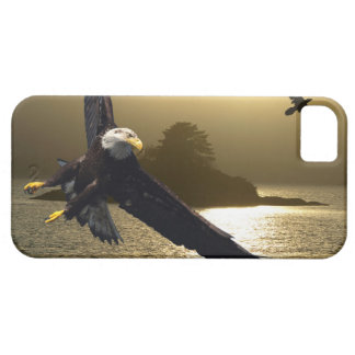 Bald Eagle Raven Golden Sunset iPhone Cases