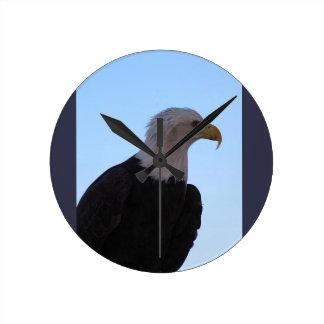 Bald Eagle Round Clock