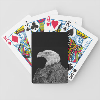 Bald Eagle Scratchboard Bicycle Playing Cards