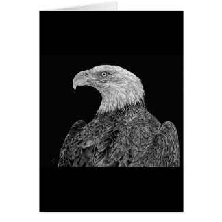 Bald Eagle Scratchboard Card