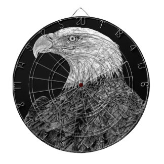 Bald Eagle Scratchboard Dartboard
