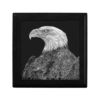 Bald Eagle Scratchboard Gift Box