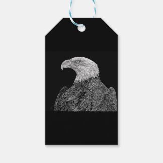 Bald Eagle Scratchboard Gift Tags
