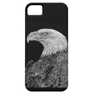 Bald Eagle Scratchboard iPhone 5 Cover