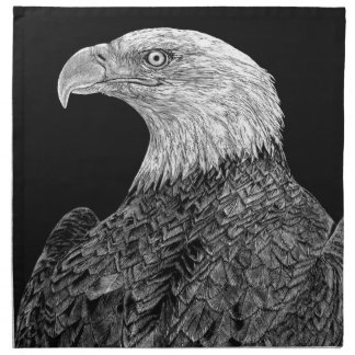 Bald Eagle Scratchboard Napkin