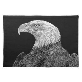 Bald Eagle Scratchboard Place Mats