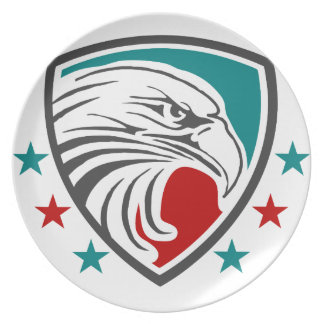 Bald Eagle Security And Protection Dinner Plates