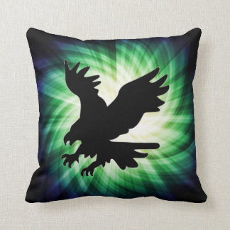 Bald Eagle Silhouette; Cool Throw Pillow