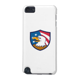 Bald Eagle Smiling USA Flag Crest Cartoon iPod Touch 5G Cover