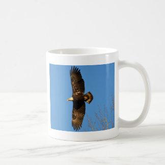 Bald Eagle Soaring Over Trees Basic White Mug