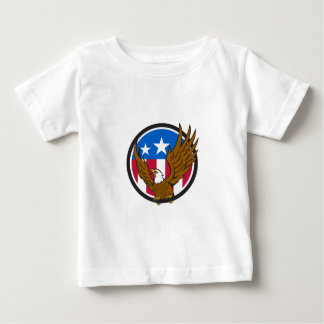Bald Eagle Spread Wings USA Flag Circle Retro Baby T-Shirt