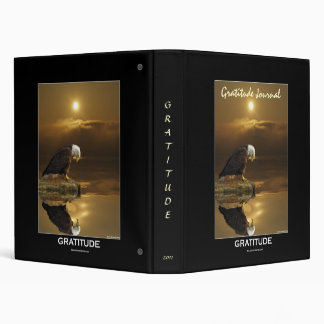BALD EAGLE & SUNSET Gratitude Journal Vinyl Binder