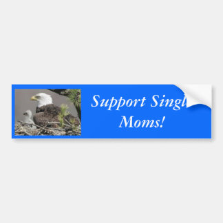 Bald Eagle Support Single Moms! Bumper Sticker
