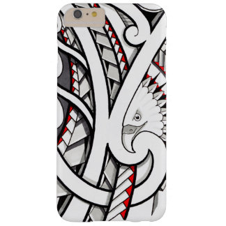 Bald eagle tribal tattoo design in red barely there iPhone 6 plus case