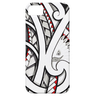 Bald eagle tribal tattoo design in red iPhone 5 cover