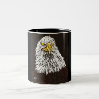 bald Eagle Two-Tone Coffee Mug