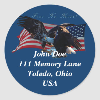 Bald Eagle/US Flag  Address Sticker