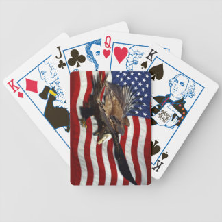Bald Eagle & US Flag Patriotic Playing Cards