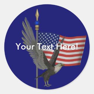 Bald Eagle US Flag Sticker