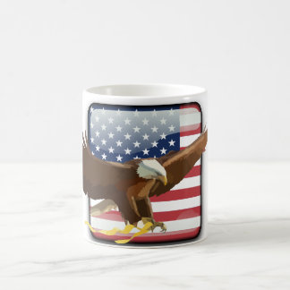 Bald eagle Usa flag Coffee Mug