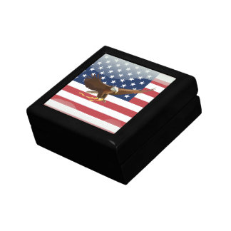 Bald eagle Usa flag Gift Box
