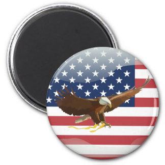Bald eagle Usa flag Magnet