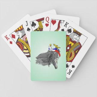 Bald Eagle Wearing Patriotic Neck Scarf Poker Deck